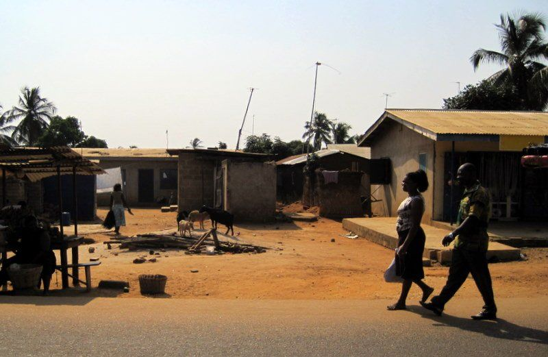 A street in Sogakope, Ghana.