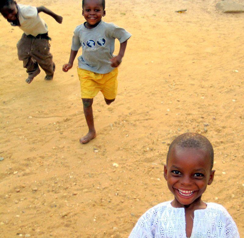 Kids running after me in Ghana screaming,