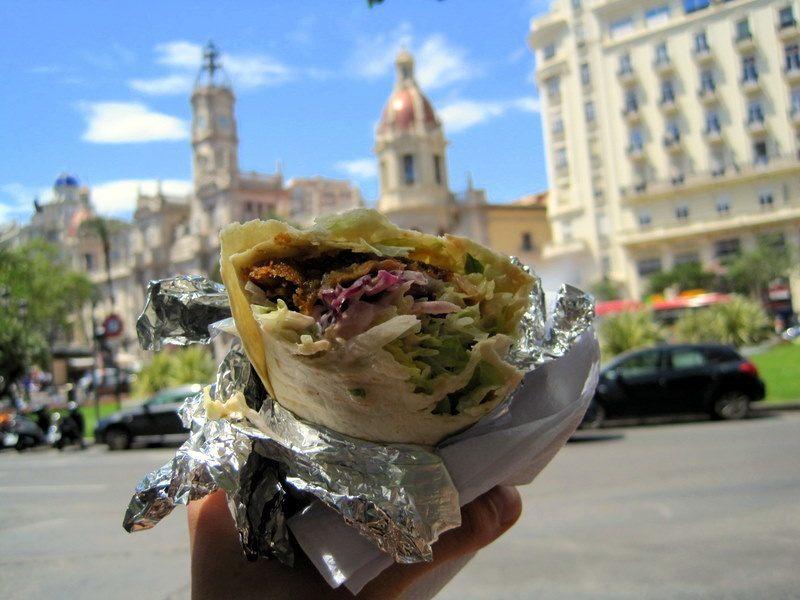 Falafel wrap in Valencia, Spain