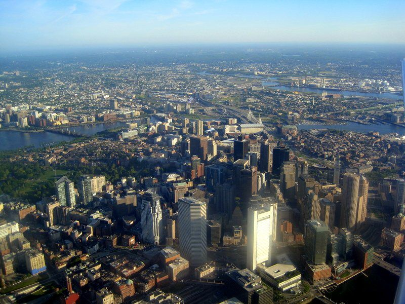 Boston from above