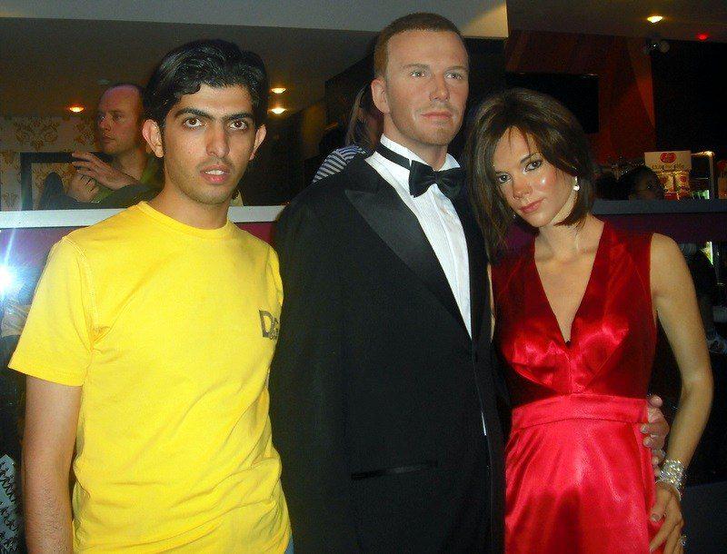 David Beckham, Posh Spice, and Faisal!
