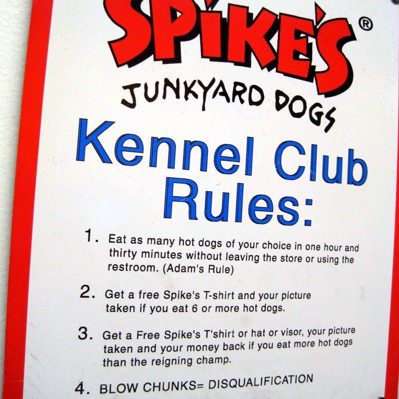 Spike's Hotdog rules
