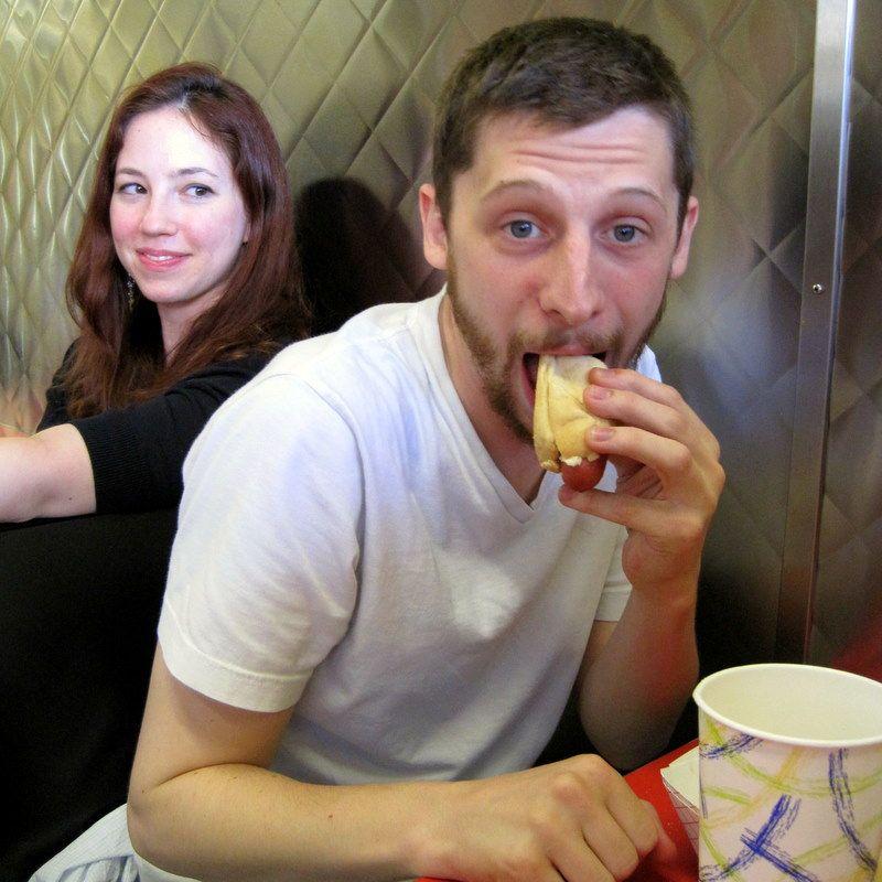 Hotdog eating contest