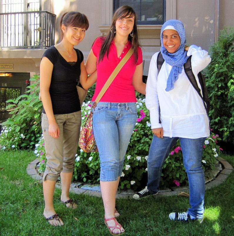 Three ESL students