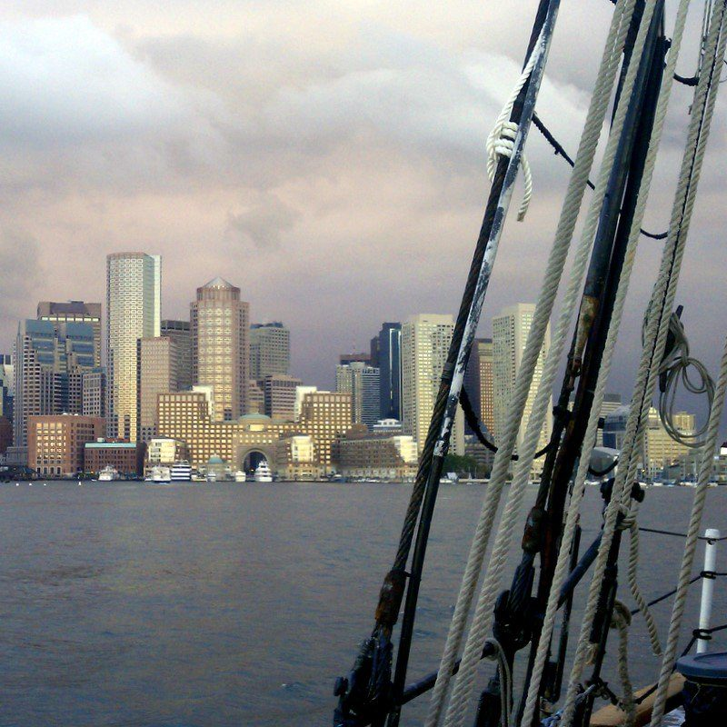 Boston, as seen from a Tall Ship!