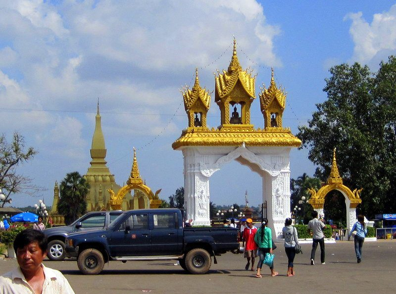 I love Laos! Lovely architecture from the capital city.
