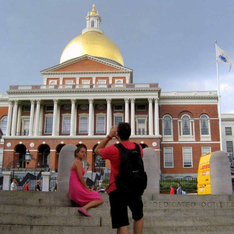 Boston State House gold dome