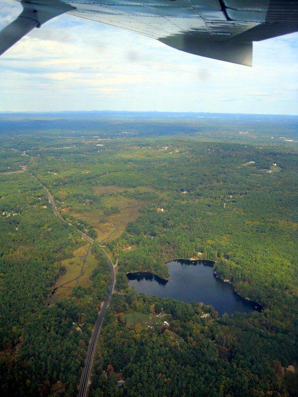 Heart shaped lake New Hampshire