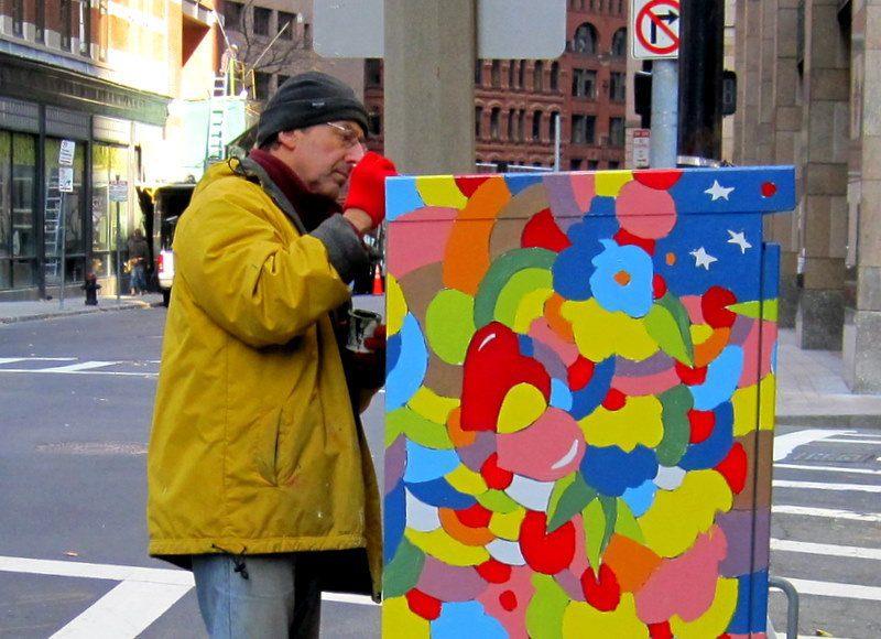 Public art light boxes