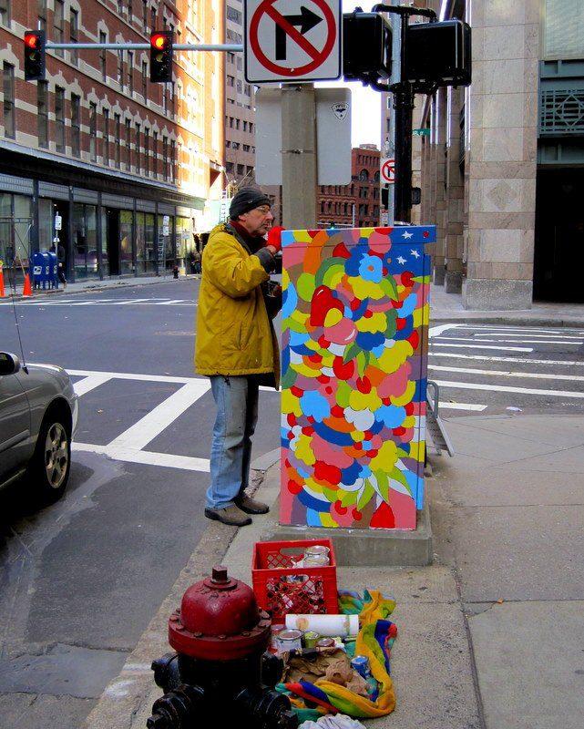 Public art painting