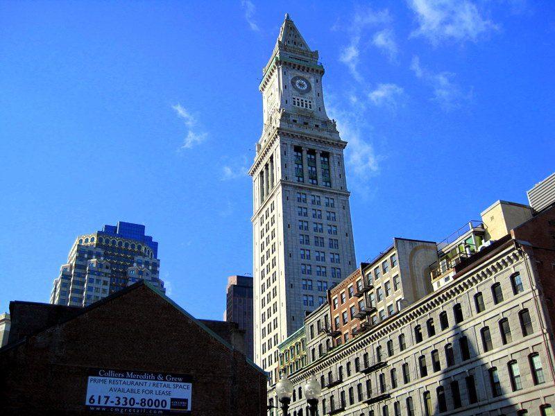 The Custom House Tower.