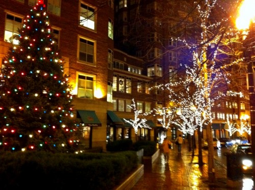 Boston holiday lights.