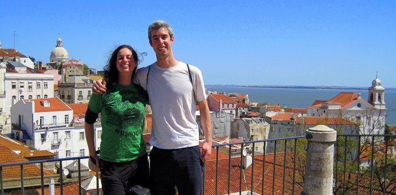 #4: Lisbon, Portugal. My bro and I were happy to be there!