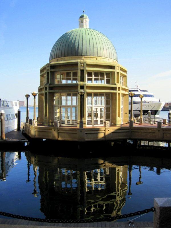A gazebo along Boston's new, lovely HarborWalk!