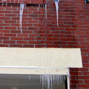 Ice-wrapped iron swirl.