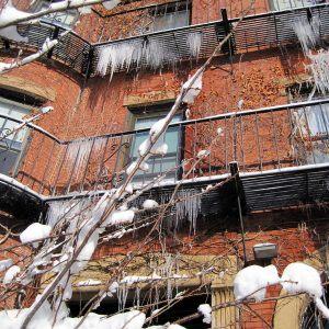 Beware falling ice knives!