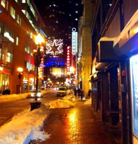 Paramount Theatre sign Boston