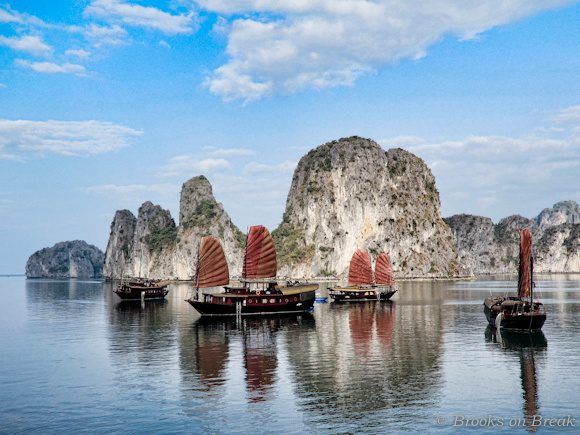 Beautiful Halong Bay, Vietnam. Tempted to go?