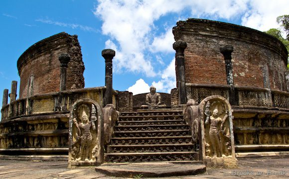 Brooks's photo of Vatadage in Polonnaruwa, Sri Lanka.