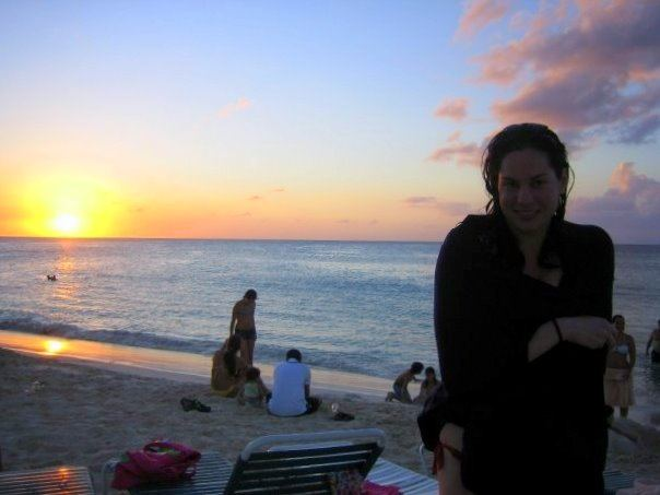 Me staying warm as the sun set on 2008 in Aruba!