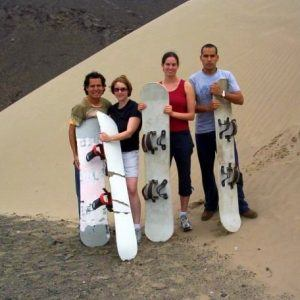Scary Sandboarding Down Giant Sand Dunes in Peru