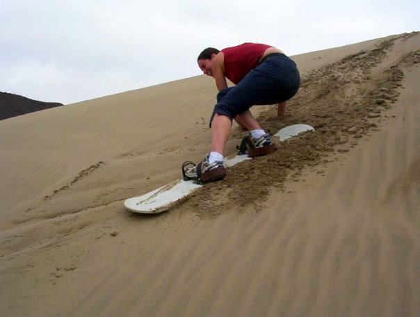 Agh! Falling! Can I hold the sand for balance? Agh! No!