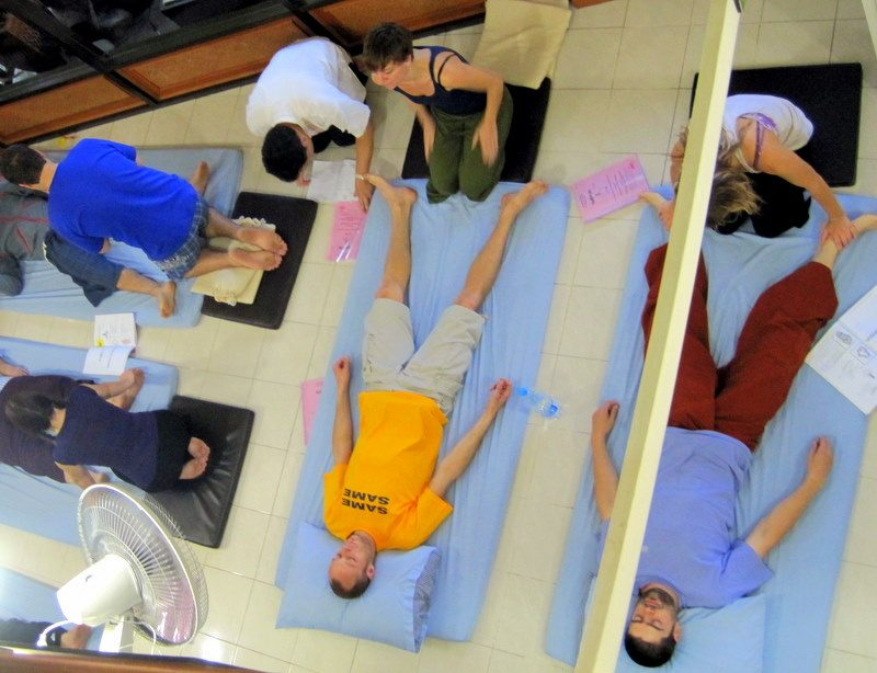My great Thai Massage course in Chiang Mai, Thailand!