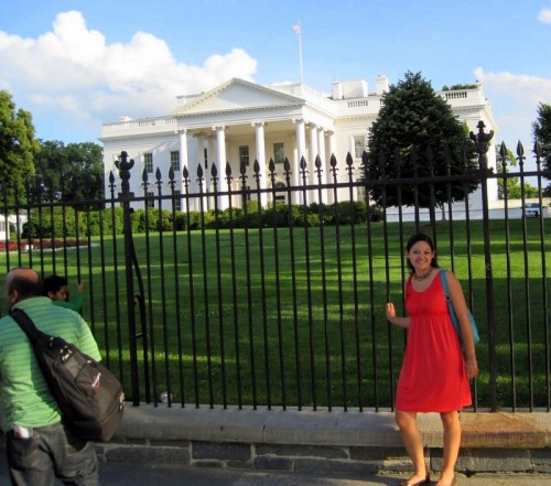 Pretty Meg, the White House, and a sloppy tourist.