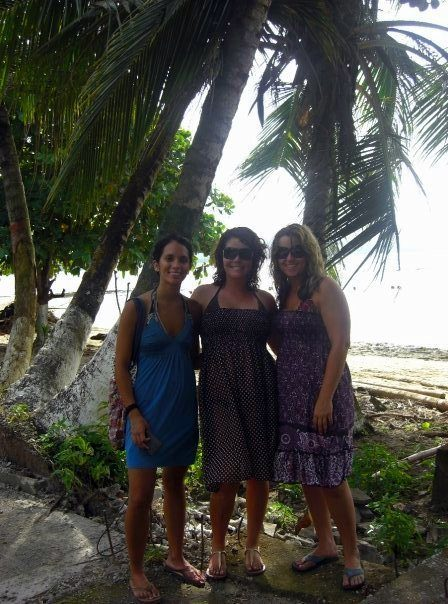 At the beach in Costa Rica, after our TEFL course.