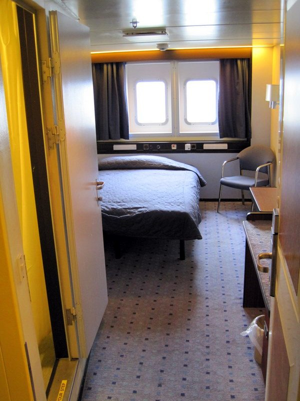 A more expensive cruise cabins (with windows!)