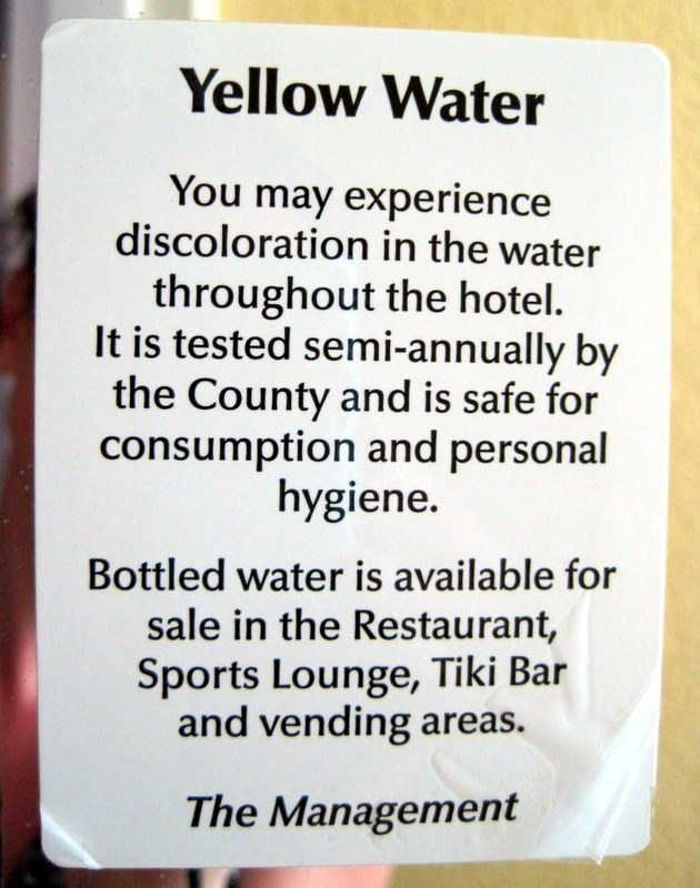 Mmm... delicious, nutritious Yellow Water...