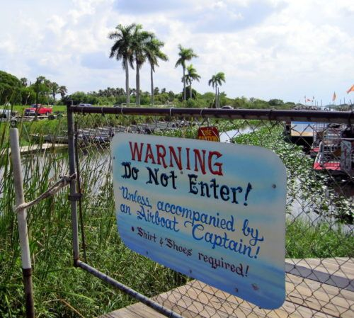 Beware, all ye who enter the Everglades! But it's worth it.