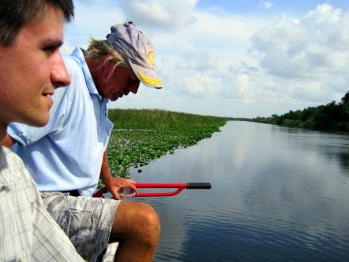 Colin with our fantastic, highly soulful airboat guide.
