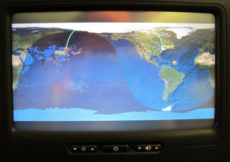 Our super-cool Beijing (PEK) route: over the North Pole!