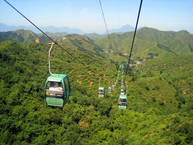 The cable car up to the Great Wall at Jinshanling!