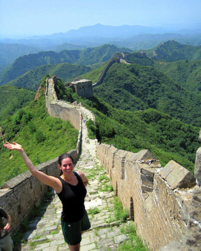 After the flight you can hike the Great Wall of China!