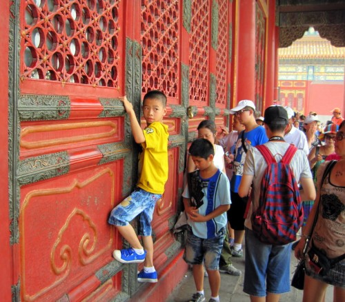 Kids climbed all over the Forbidden City!
