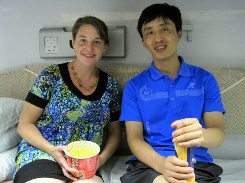 Our kindly train dorm-mate and Mandarin teacher.