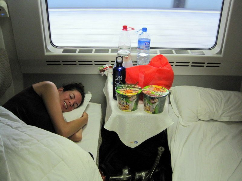 My best sleep during China travel: on a train!