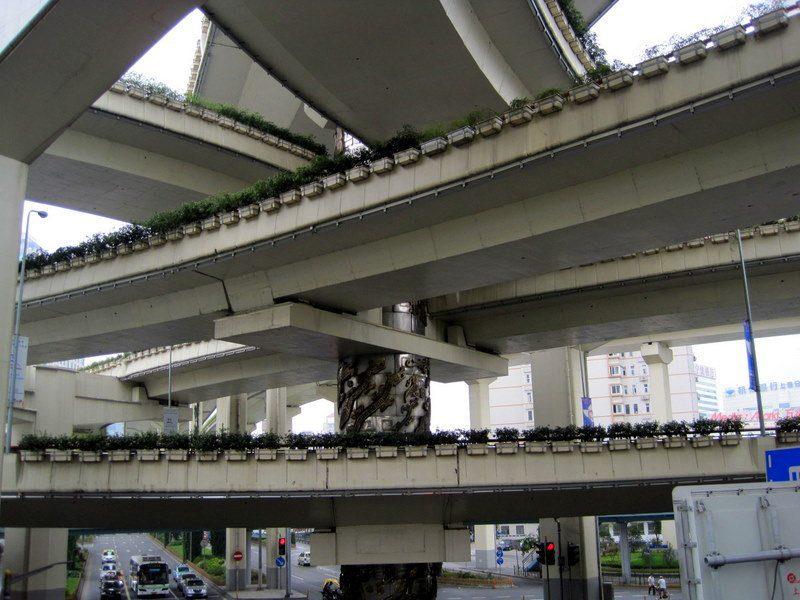 Interlocking highways in Shanghai. What a pace!