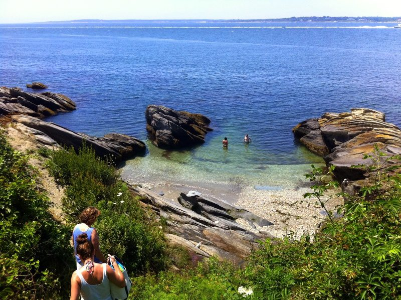 A magically stunning swimming grotto in Jamestown, Rhode Island.