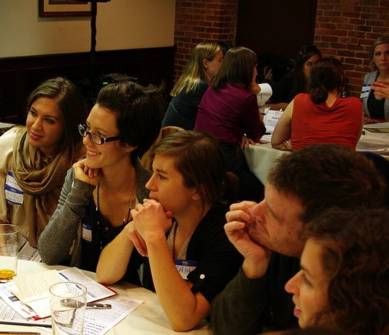 One of my favorite photos: Breakout Session discussion!