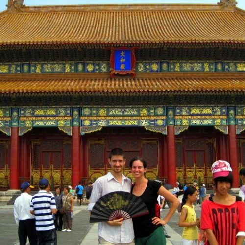 With Colin this summer in Beijing's Forbidden City.