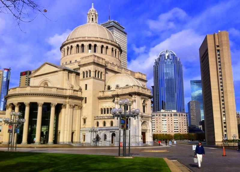 The Christian Science Plaza is lovely in daytime or night time.