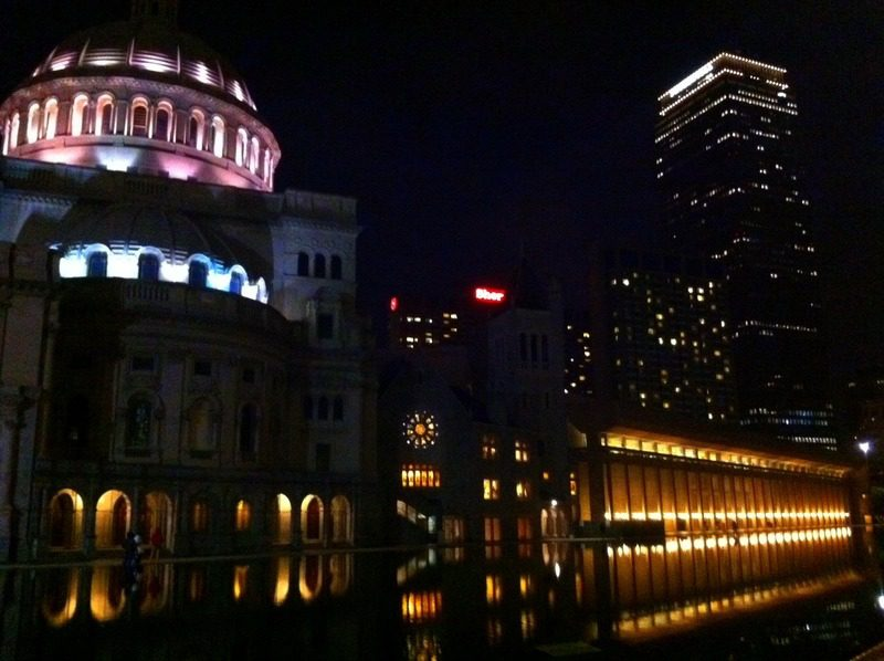 The gorgeous Christian Science Plaza of Boston.