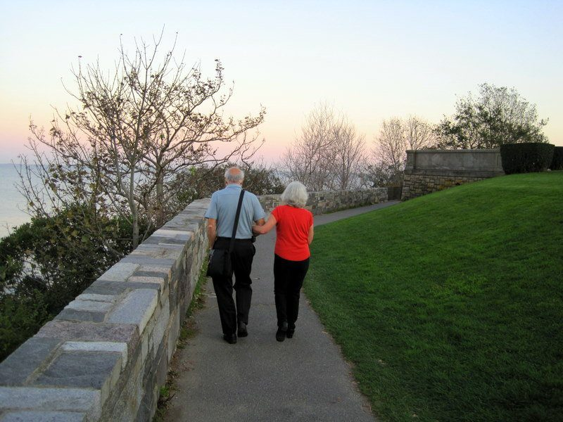 The Cliff Walk in Newport is a romantic activity for all ages! So sweet!