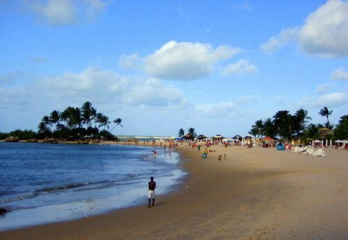 A heavenly beach on Morro de Sao Paolo.