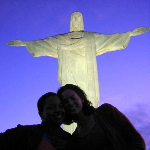 Me and Marleny in front of Rio's famous giant Christ statue.