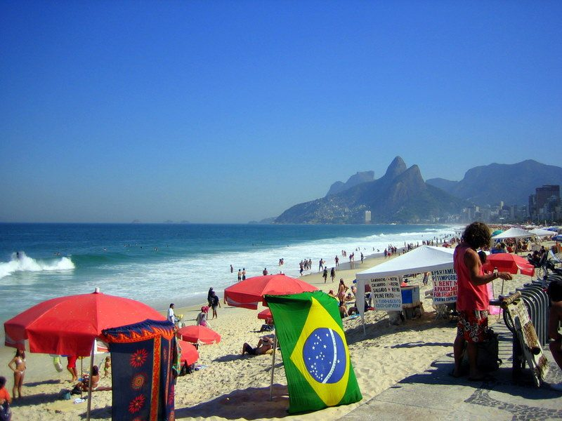 Famous and fabulous Ipanema Beach in Rio.