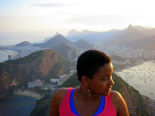 Marleny, high above the phenomenal city of Rio.